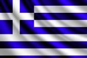 Waving flag of Greece, vector — Stock Vector