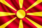 Waving flag of Macedonia, vector — Stock Vector
