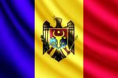 Waving flag of Moldova, vector — Stock Vector