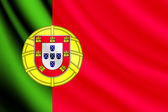 Waving flag of Portugal, vector — Stock Vector