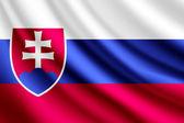 Waving flag of Slovakia, vector — Stock Vector
