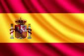 Waving flag of Spain, vector — Vetorial Stock