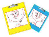 Erasable basketball coach board — Stock Vector