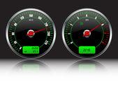 Car dashboard gauges — Stock Vector
