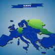3 dimensional infographics political map of European countries, with every state easy selectable and editable in one click.Content labeled in Layers panel. — Stock Vector #56431789