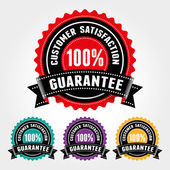 Customer Satisfaction Guarantee Badge and Sign - banner, sticker, tag, icon, stamp, label — Stock Vector