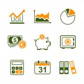 Finance simple vector icon set — Stock Vector
