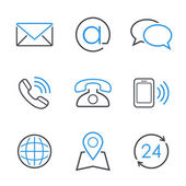 Contacts simple vector icon set — Stock Vector