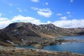 Lake and volcanic landscape, Landmannalaugar, Iceland — Stock Photo