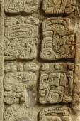 Mayan hieroglyphs, Copan ruins, Honduras — Stock Photo