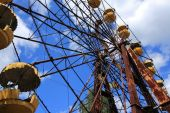 Abandoned Ferris Wheel, Extreme Tourism in Chernobyl — 图库照片