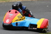 Sidecar racing at Oliver's Mount, Scarborough — Stock Photo