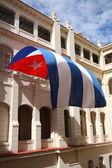 Cuba Flag Flying in Havana — Photo