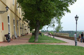 Promenade on the Petrovaradin fortress  — Stock Photo