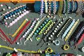 Costume jewelery and beads — Stock Photo