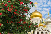 Zachatievskiy Monastery. The Church. — Foto de Stock