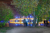 Tsaritsyno. International festival The Circle of Light.  — Stock Photo