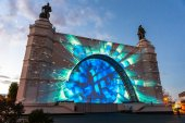 The ENEA (VDNH). International festival The Circle of Light.  — Stock Photo