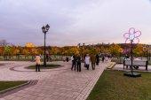Tsaritsyno. Moscow. International festival The Circle of Light.  — Fotografia Stock