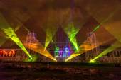 Tsaritsyno. Moscow. International festival The Circle of Light.  — Stock Photo
