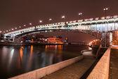 Moscow. The Patriarchal Bridge (Patriarshy Bridge). — Stock Photo