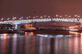 Moscow. The Patriarchal Bridge (Patriarshy Bridge). — Stock Photo