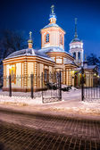 The Church of the exaltation of the Holy Cross in Altufevo. — Stock Photo