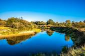 Kirzhach River in the autumn evening. — Stock Photo