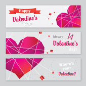 Banner for Valentine's Day — Stock Vector