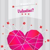 Happy valentine card — Stockvektor