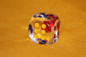 Limpid dice — Stock Photo