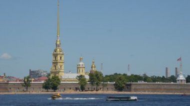 Peter and Paul Fortress — Stock Video