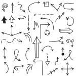 Set of black arrows — Stock Vector #51915221
