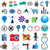 Set of 35 icons on the Internet  — Stock Vector