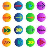 Conjunto de 16 flechas — Vector de stock