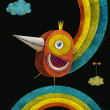 Iron bird.Fire bird in crown on the rainbow.Concept design for poster,flayer,business,cover brochure ,abstract background — Stock Photo #59795665
