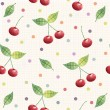 Cherry seamless pattern. background, pattern, fabric design, wrapping paper, cover.Birthday background — Stock Photo #64826827