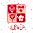Love greeting card. Design element.Love poster — Stock Photo #70998583