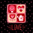 Love greeting card. Design element.Love poster — Stock Photo #70998585