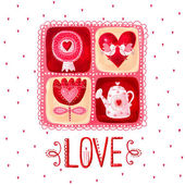 Love greeting card. Design element.Love poster — Stock Photo