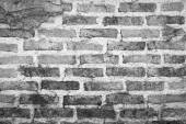 Black white brick wall texture background — Stockfoto