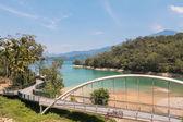 Lakeside bridge at Sun Moon Lake, Taiwan — Stock Photo