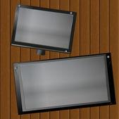 Picture frame on the boards — ストック写真