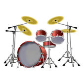 Drum kit — Stock Vector