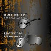 Rock music on a metal background — Stock Vector