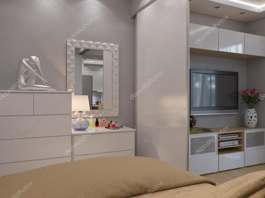 3d rendering di salotto e camera da letto interior design — foto ...