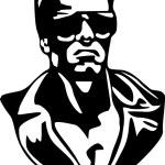 Постер, плакат: Terminator in vector