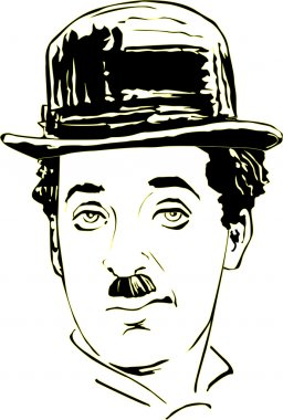 Charlie Chaplin in vector
