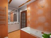 Orange bathroom view 3 — Foto de Stock