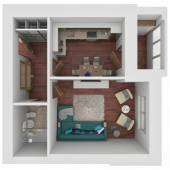 3D layout of the apartment — Stockfoto